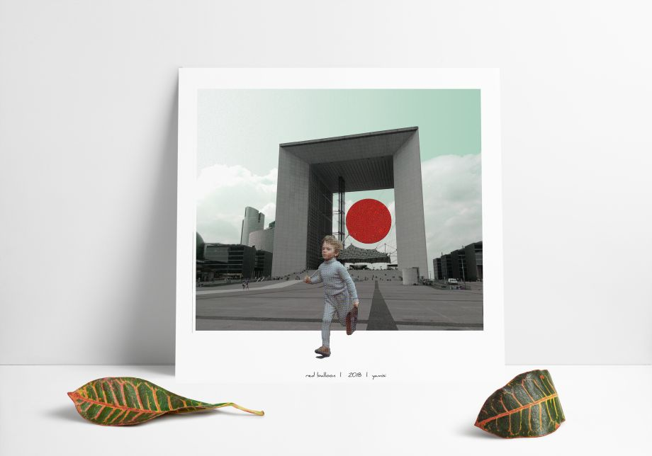 Red Balloon Poster 30*30 cm