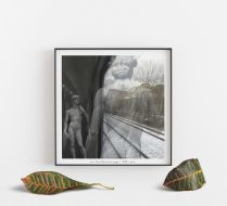 Train From Florance To Prague Poster 30*30 cm