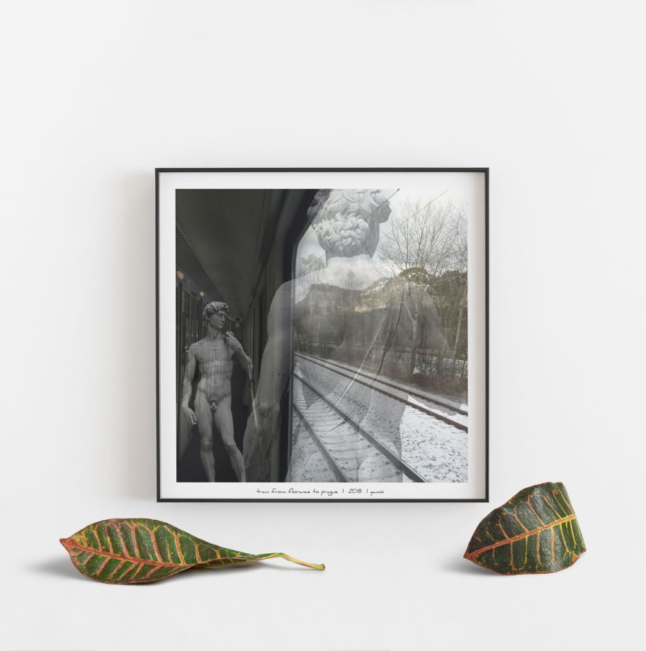 Train From Florance To Prague Poster 50*50 cm