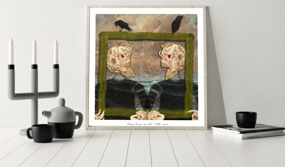Talking With Your Own Self Poster 40*40 cm
