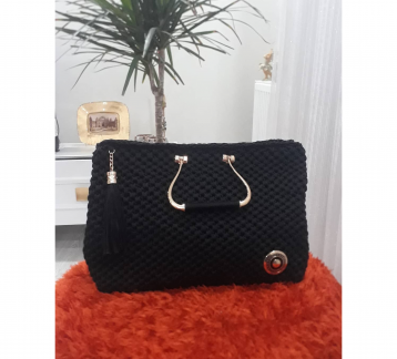 Handmade, Business Style Hand Bag, Polyester Ribbon Rope