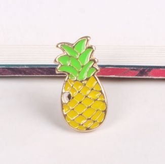 Pop Art Ananas Yaka Broşu - AXE170112